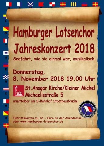 HAMBURG PILOTS' CHOIR ANNUAL CONCERT 2018