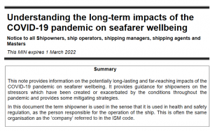 long-term impacts of the COVID-19 pandemic on seafarer wellbeing
